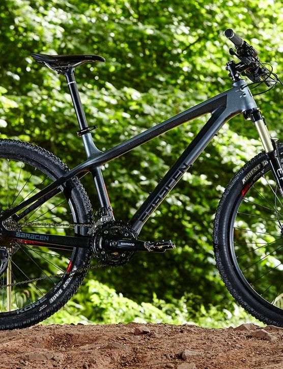 Saracen's Mantra Carbon frameset is a distinctively well damped but still enthusiastically responsive composite chassis