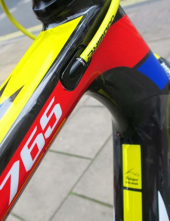The £2299 Ultegra model gets the full Look 'Mondrian' team colours finish