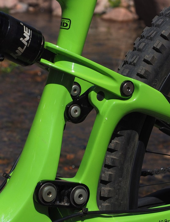 The short links and more compact layout of the new Ibis Mojo HD3 suspension makes for a stiffer rear end than before. We couldn't detect any appreciable frame flex even in hard cornering or across rocky high-speed terrain