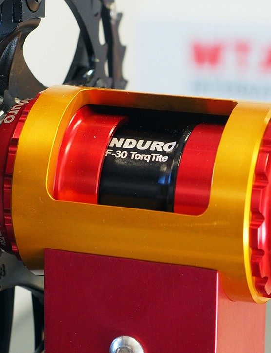Enduro's latest TorqTite anti-creak bottom bracket adapts wide-format 30mm crankset spindles into narrow-profile PF30 shells