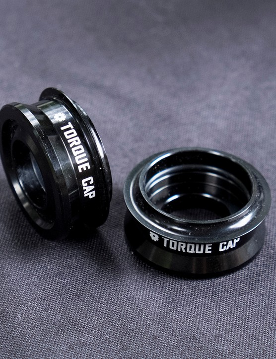The RockShox Torque Tube end caps bolster stiffness