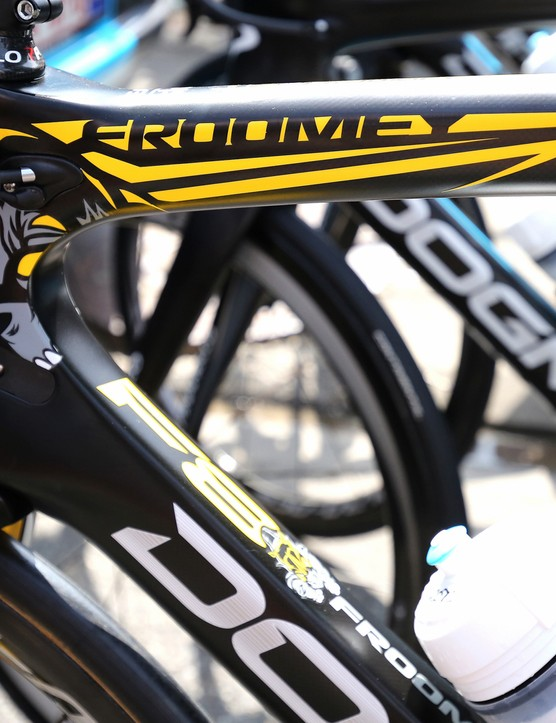 The new design featured the Froomey nickname and a charging rhino design