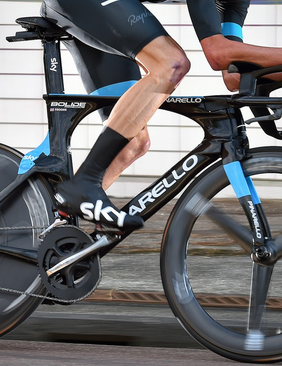 Pinarello's Bolide TT bike only had two short appearances at the Tour this year