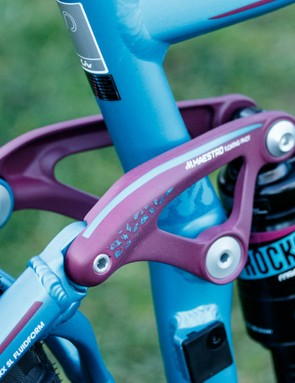 The build kit should prove ready for some seriously technical riding, including a piggyback rear shock