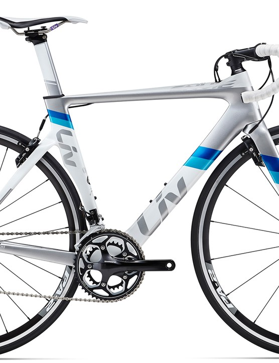 The Liv Envie Advanced 2 is the entry into the aero-road range – its Shimano 105 component package has it at a price of $2,100 / AU$2,599 / £TBC
