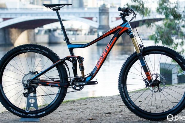 Bold hues from Giant for 2016. Pictured is the Trance Advanced 27.5 1 ($5,000 / AU$5,499 / £TBC)