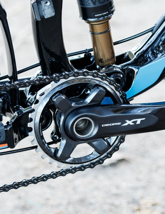 Giant's Trance Advanced 27.5 1 is just one example using Shimano's new XT M8000 in a 1x11 configuration