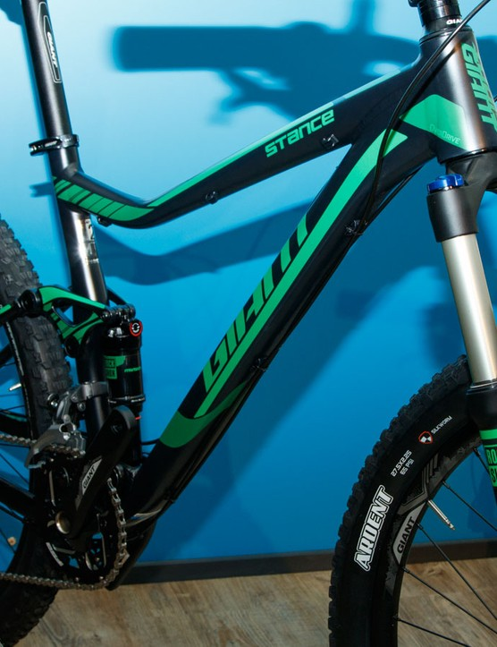 Giant offers the Stance for those seeking dual suspension on a real budget. Pictured is the Stance 27.5 2 ($1,500 / AU$1,999 / £TBC)