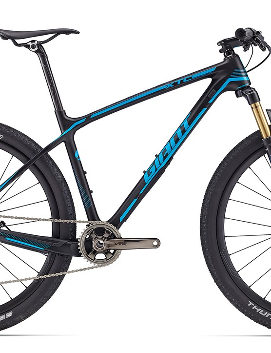 The XTC Advanced SL 27.5 0 is for the XC racing fanatics. Shimano XTR Di2 and Fox iRD eletronic fork work with the PRO Tharsis XC cockpit for hidden wires. Battery powered racing doesn't come cheap though, this one is $8,900 / AU$8,699 / £TBC