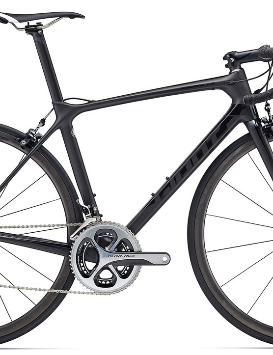 The stealthy TCR Advanced Pro 0 comes with a full Dura-Ace drivetrain and retails for $5,500 / £TBC / AU$5,999