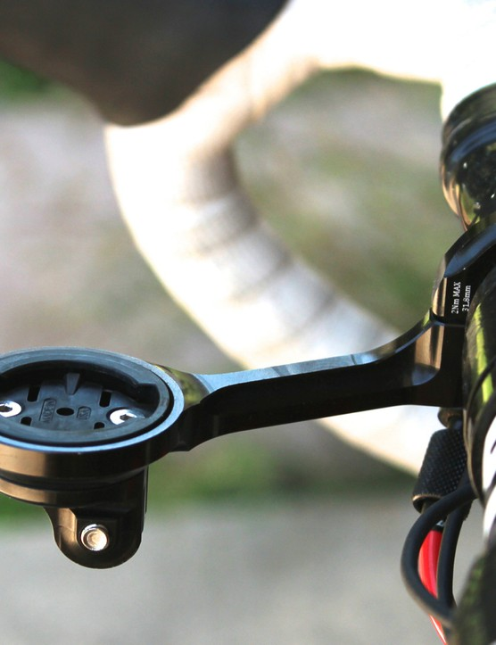 The K-Edge Garmin and GoPro Combo Mount does just what it says it does, in a tidy and stiff package