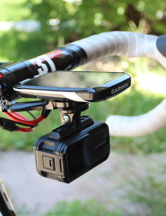 The alloy arm keeps both Garmin and video camera secure and keeps vibration to a minimum