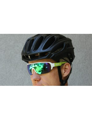 The POC DO Half Blade glasses come in three, erm shades. This is Cannondale green