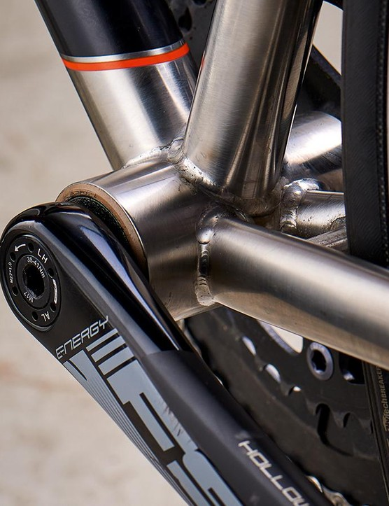 A BB86 Press-Fit bottom bracket provides a stiff, efficient pedalling platform