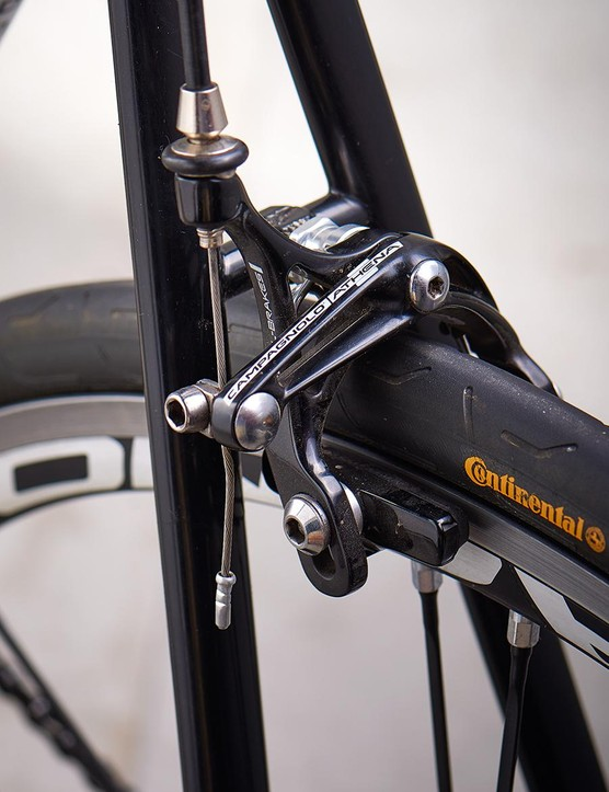 Seatstays flatten out below the brake bridge