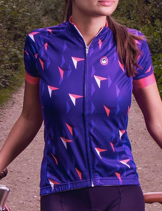 Bright, vibrant with a geometric print - the Milltag Lattitude jersey