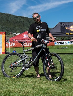 Johnny Wenner of Denver, Colorado, built his own enduro rig out of 4130 chromoly tubing. Wenner said the bike weighs in excess of 40 pounds