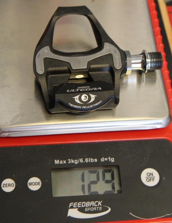 Compare this to the Dura-Ace pedal we weighed at 124g