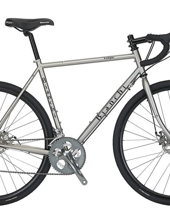 Bianchi's Volpe disc is finished in a very tasty metallic silver
