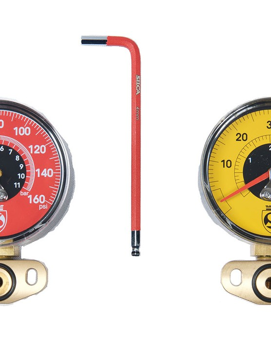 The gauge can be easily swapped with a 4mm hex wrench