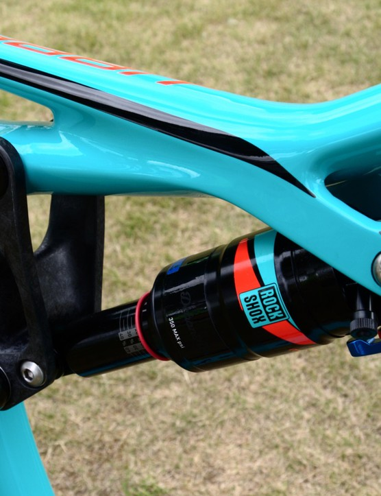 The top five bikes in the range feature this carbon link, which saves 100g
