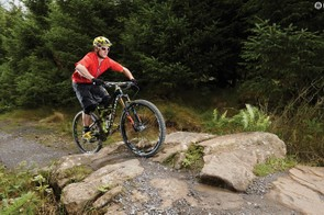 Pop your front wheel over the first rock