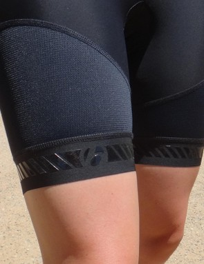 Bontrager's grippy leg bands prevent the shorts from riding up.