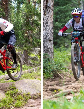 Trek Factory racers Justin Leov and Tracy Moseley both ride the Remedy 29, though both bikes are set up quite differently