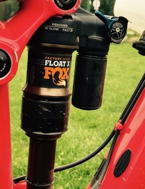 Moseley runs the Fox Float X rear shock