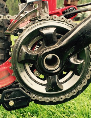 Moseley is one of the few enduro racers who run a double crankset
