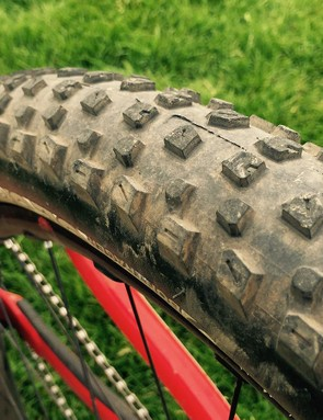 Moseley went with a faster rolling SE3 rear tire for the Crested Butte enduro