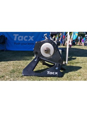 The folding frame and ability to generate resistance without being plugged should make the Tacx NEO Smart a reasonable choice for on-site warm-ups