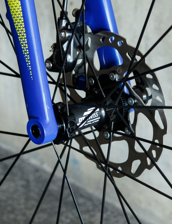 There's little danger of fork flex with a 100 x 15mm thru-axle up front