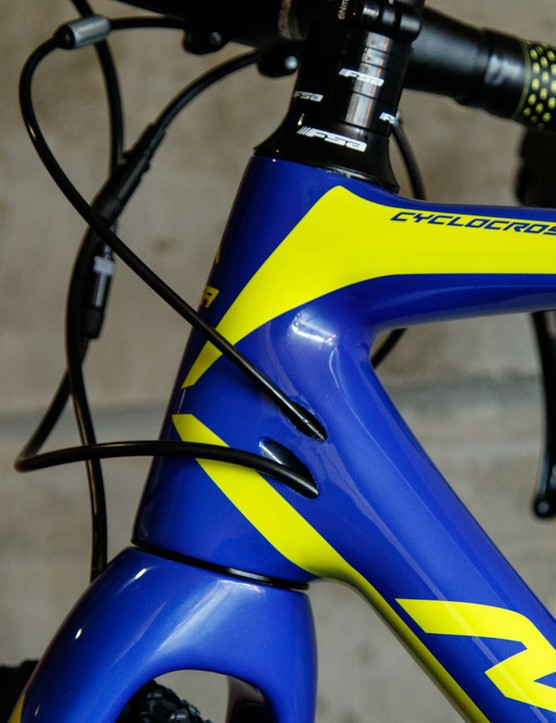 Neat internal cable routing is said to be easily serviced with large cable exit ports