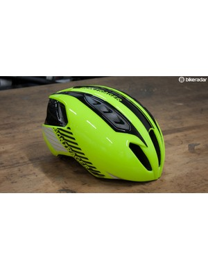 With a helmet this bright, be ready to get some attention