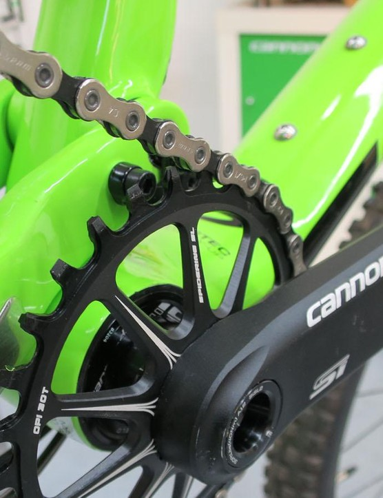 Cannondale's proprietory hollow cranks and chainring look amazing