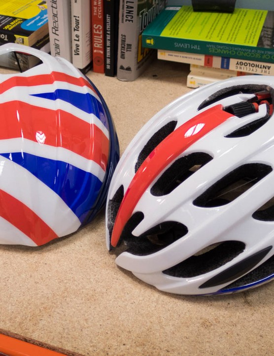 The British Cycling version comes complete with an aeroshell