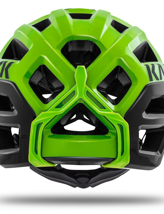 The rear of the helmet has maximum coverage to make the Rex as safe as possible