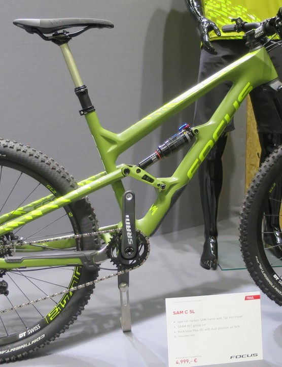 The Sam C SL features a RockShox Pike up front, Monarch rear shock and an X01 group for £3999