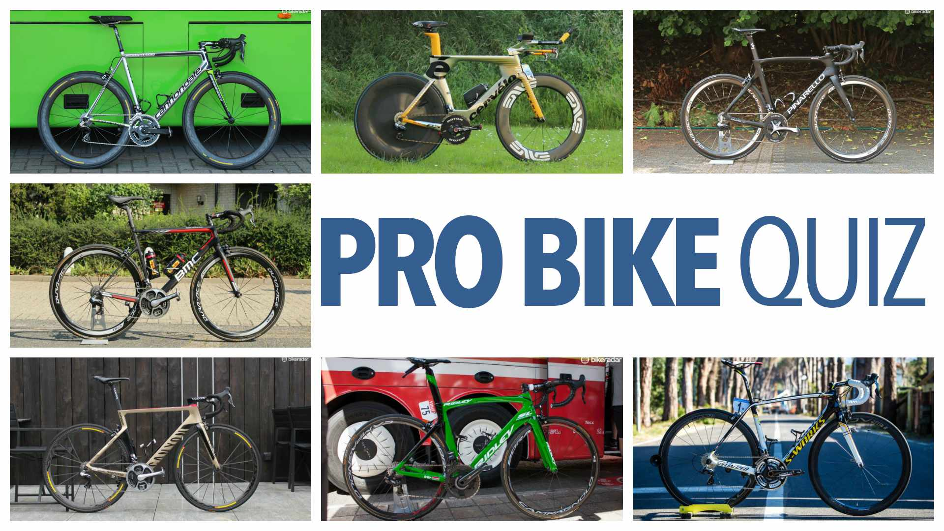 How many pro bikes can you identify?