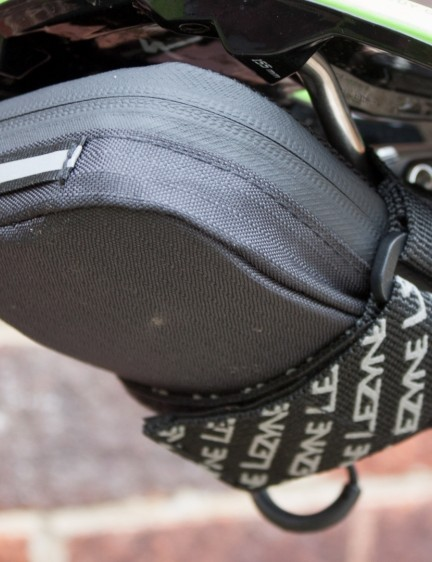 A saddle pack is the ideal way to store all your essential gear – this is Lezyne's Road Caddy, which can fit a tube, two tyre levers, multi tool and patches