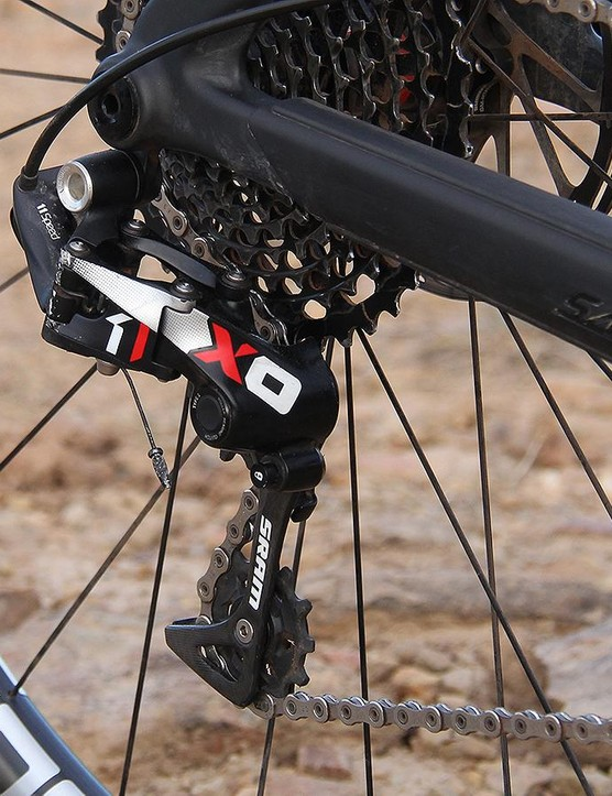 The SRAM XO1 group provided crisp shifts and reliable performance