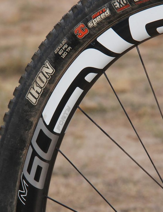 ENVE's M60 wheels are quite stiff and appreciably wide