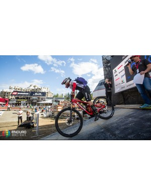 Tracy Moseley also swapped her Float X for a DHX2 during the Enduro World Series stop in Whistler