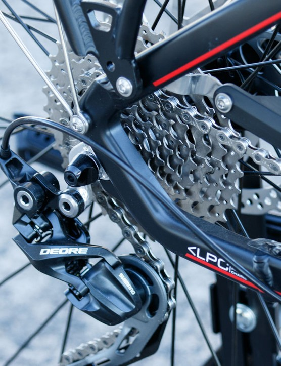 A 10-speed Shimano Deore XT drivetrain is given on the Life Bike
