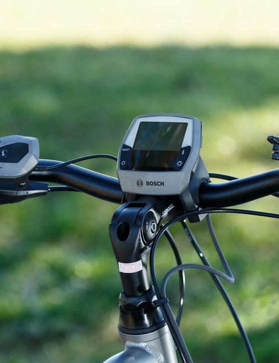 Each Corratec e-bike comes with the Bosch Intuvia Performance head unit and remote