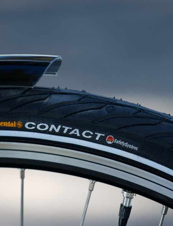 Continental Contact rubber features the SafetySystem puncture protection insert