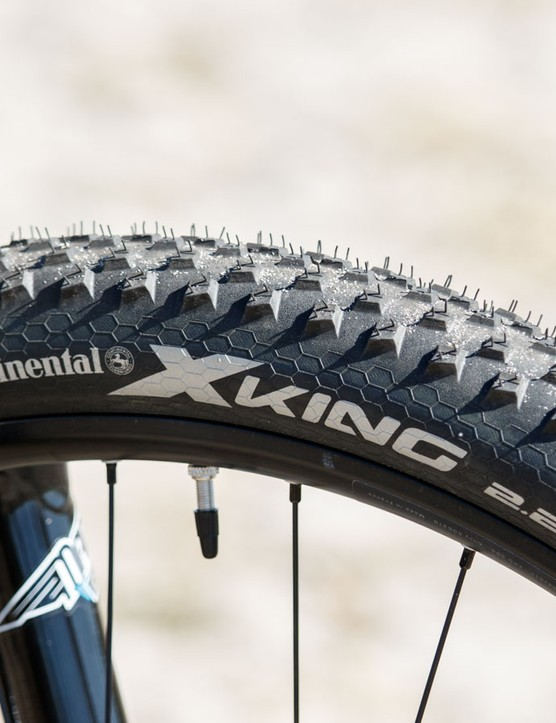 Corractec's X-Vert 650b comes with Continental X-King 2.2in rubber