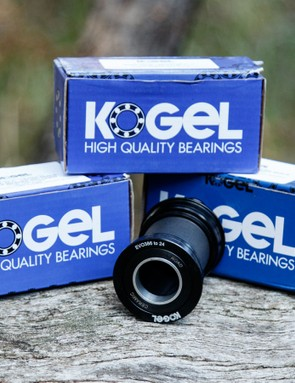 Kogel ceramic bearings have a high-end bottom bracket for just about any press-fit shell and crank combinition