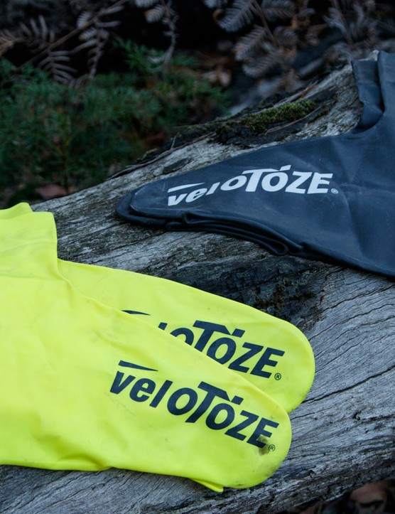 VeloToze are shoe covers that come with a Latex allergy warning